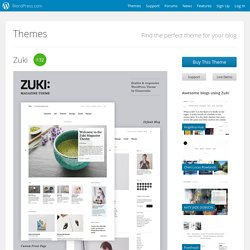 Zuki Theme — WordPress Themes for Blogs at WordPress.com