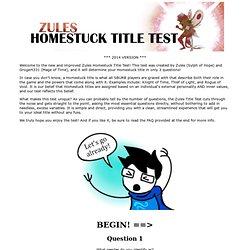 s Homestuck Title Test