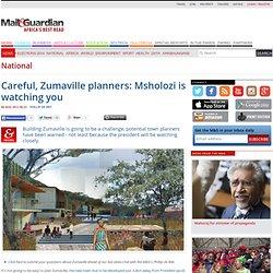 Careful, Zumaville planners: Msholozi is watching you