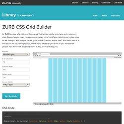 CSS Grid Builder - ZURB Playground - ZURB.com