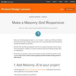Make a Masonry Grid Responsive