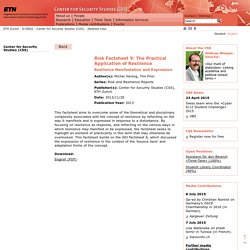 ETH Zurich - Center for Security Studies (CSS) Center for Security Studies (CSS)