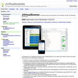 zvirtualscenes - Free open-source home automation tool for Windows, Android, iOS, Blackberry and the Web