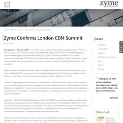 Zyme Confirms London CDM Summit
