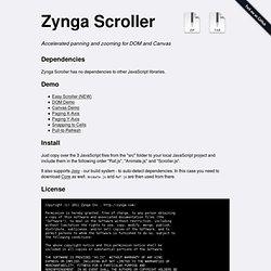 zynga/scroller @ GitHub