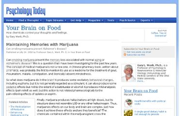 http://www.psychologytoday.com/blog/your-brain-food/201007/maintaining-memories-marijuana