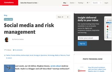 http://econsultancy.com/blog/3987-social-media-and-risk-management