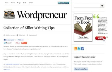 http://wordpreneur.com/collection-of-killer-writing-tips/
