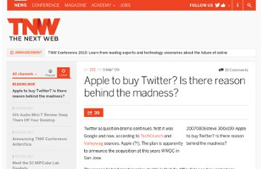 http://thenextweb.com/2009/05/05/apple-buy-twitter-reason-madness/