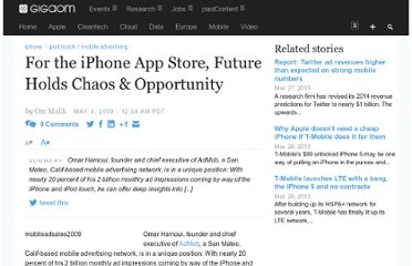http://gigaom.com/2009/05/05/for-the-iphone-app-store-future-means-chaos-opportunity/