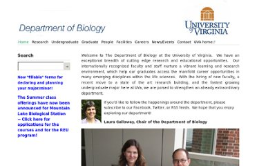 http://www.virginia.edu/biology/