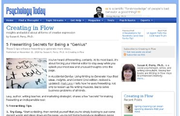 http://www.psychologytoday.com/blog/creating-in-flow/201011/5-freewriting-secrets-being-genius
