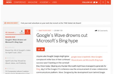 http://thenextweb.com/2009/05/28/googles-wave-drowns-microsofts-bing-hype/