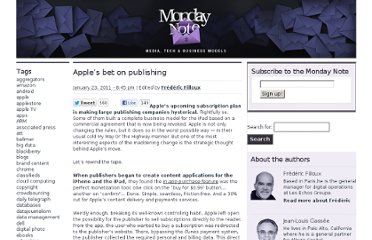 http://www.mondaynote.com/2011/01/23/apples-bet-on-publishing/