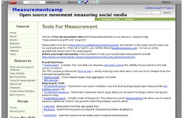 http://measurementcamp.wikidot.com/tools-for-measurement