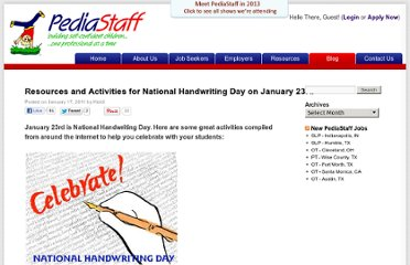 http://www.pediastaff.com/blog/resources-and-activities-for-national-handwriting-day-on-january-23rd-2506
