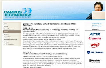 http://campustechnology.com/microsites/campus-technology-virtual/ctv-09-program.aspx