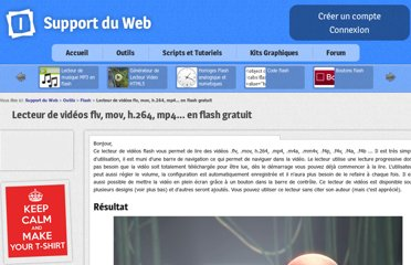 http://www.supportduweb.com/flv-player-lecteur-videos-flash-flv-mp4-mov-h264-gratuit-mettre-des-videos-sur-son-site.html