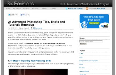 http://sixrevisions.com/photoshop/21-advanced-photoshop-tips-tricks-and-tutorials-roundup/