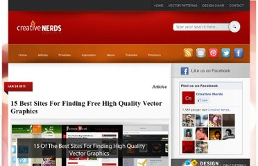 http://creativenerds.co.uk/articles/15-best-sites-for-finding-free-high-quality-vector-graphics/
