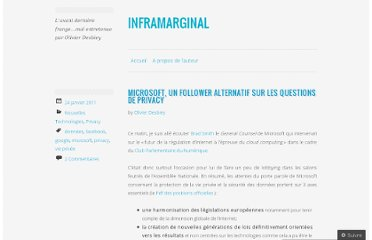 http://inframarginal.wordpress.com/2011/01/24/microsoft-un-follower-alternatif-sur-les-questions-de-privacy/