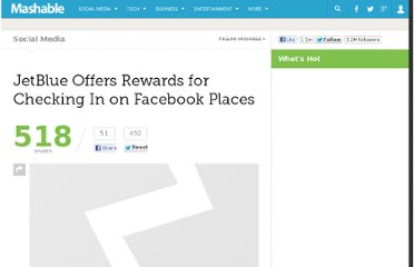 http://mashable.com/2011/01/24/jetblue-offers-rewards-for-checkin-facebook-places/
