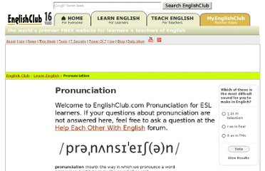http://www.englishclub.com/pronunciation/index.htm