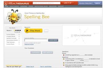 http://www.visualthesaurus.com/bee/play