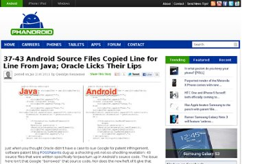 http://phandroid.com/2011/01/21/37-43-android-source-files-copied-line-for-line-from-java-oracle-licks-their-lips/