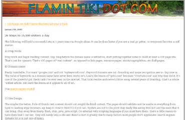 http://www.flamintiki.com/mtype/archives/2005/01/26_steps_to_150.php