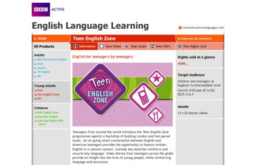 http://www.bbcactiveenglish.com/teen-english-zone_information.html
