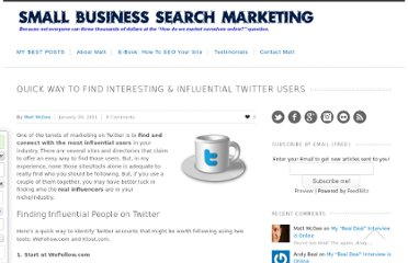 http://www.smallbusinesssem.com/find-interesting-influential-twitter-users/3974/