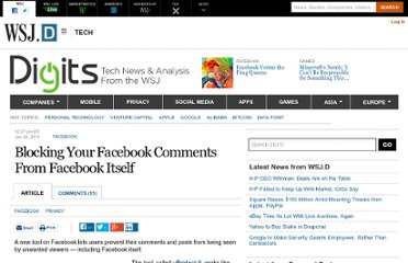 http://blogs.wsj.com/digits/2011/01/24/blocking-your-facebook-comments-from-facebook-itself/