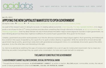 http://www.acidlabs.org/2011/01/25/applying-the-new-capitalist-manifesto-to-open-government/