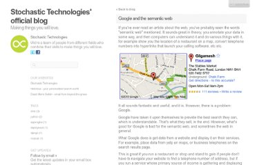 http://blog.stochastictechnologies.com/google-and-the-semantic-web