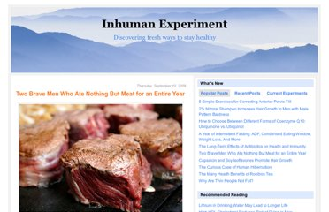 http://inhumanexperiment.blogspot.com/2009/09/two-brave-men-who-ate-nothing-but-meat.html