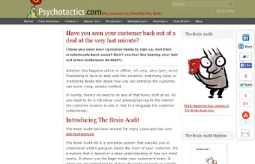 http://www.psychotactics.com/the-brain-audit-marketing-strategy-and-structure