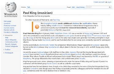 http://en.wikipedia.org/wiki/Paul_King_(musician)