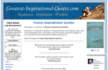 http://www.greatest-inspirational-quotes.com/funny-inspirational-quotes.html