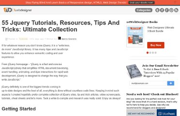 http://www.1stwebdesigner.com/tutorials/53-jquery-tutorials-resources-tips-and-tricks-ultimate-collection/