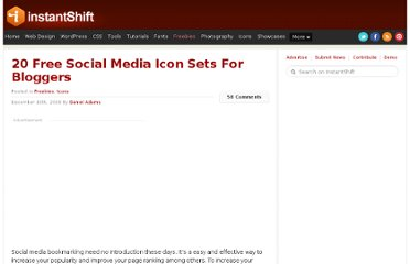 http://www.instantshift.com/2008/12/10/20-free-social-media-icon-sets-for-bloggers/
