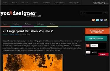 http://www.youthedesigner.com/2009/04/06/25-fingerprint-brushes-volume-2/