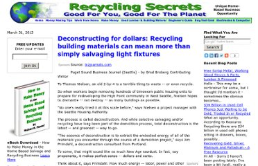 http://www.recyclingsecrets.com/deconstruction-business-article.htm