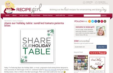 http://www.recipegirl.com/2010/12/06/share-our-holiday-table-sundried-tomato-polenta-bites/