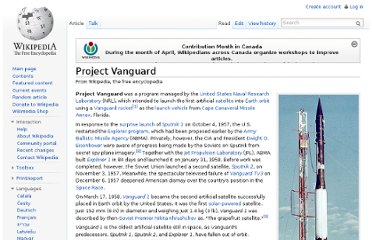 http://en.wikipedia.org/wiki/Project_Vanguard
