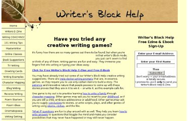 http://www.writers-block-help.com/creative-writing-games.html