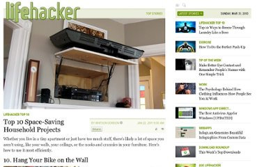 http://lifehacker.com/5740557/top-10-diy-space+saving-household-projects