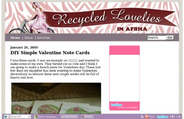 http://www.recycledlovelies.com/2010/01/26/diy-simple-valentine-note-cards/