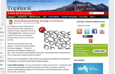 http://www.toprankblog.com/2011/01/social-media-marketing-strategy-commerce/