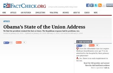 http://www.factcheck.org/2010/01/obamas-state-of-the-union-address/